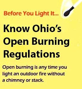 Know Ohio's Open Burning Regulations!